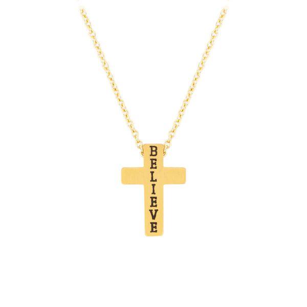 Halskette Kreuz Believe