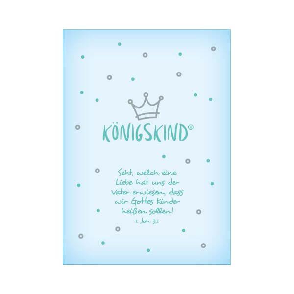 Postkarte Koenigskind Baby