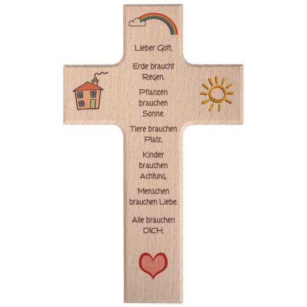Holzkreuz Kindergebet