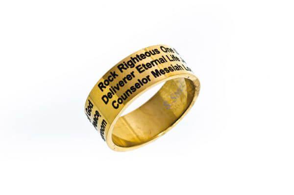 Ring Jesus goldfarben