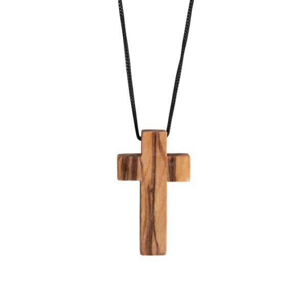 Olivenholz Kreuz mit Band