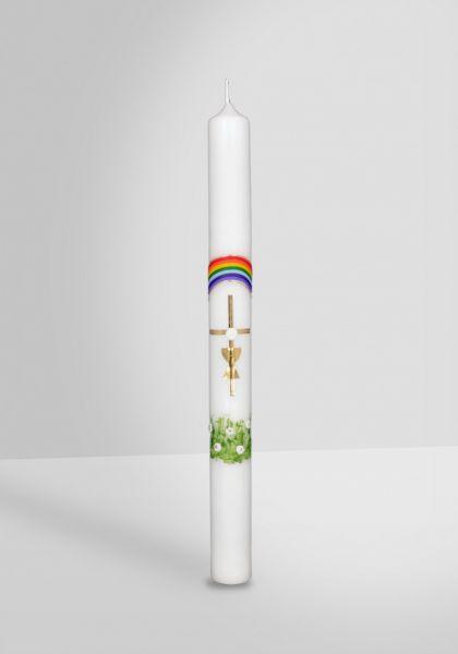Kommunionkerze Regenbogen