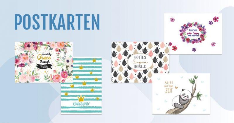 christliche Postkarten