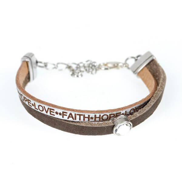 Armband Faith Hope Love