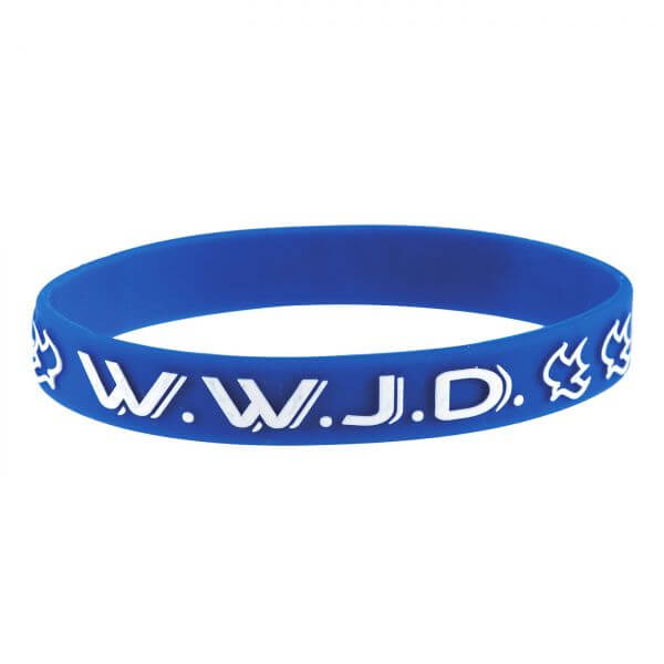 Armband WWJD blau