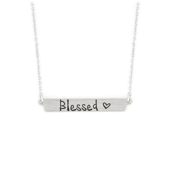 Halskette Blessed Plakette