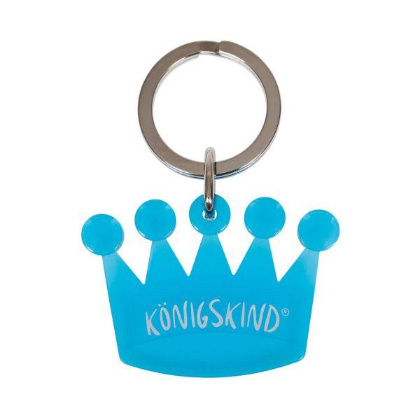 Schlüsselanhänger Krönchen türkis