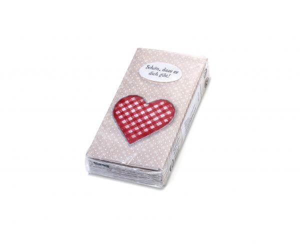 Papiertaschentücher Herz
