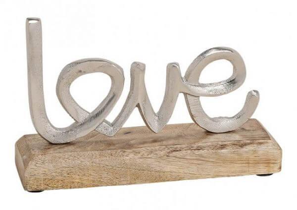 Aufsteller Schriftzug Love