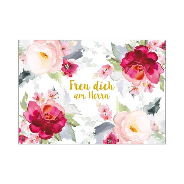 Postkarte Freu dich