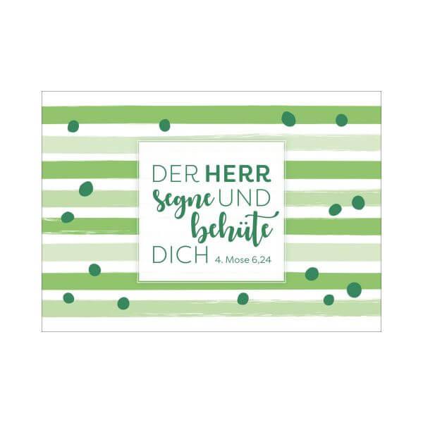 Postkarte Streifen grün