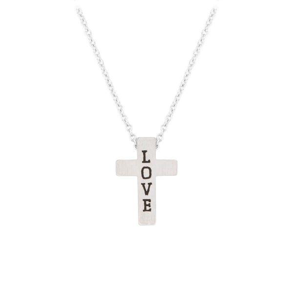 Halskette Kreuz Love