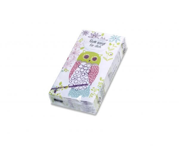 Papiertaschentücher Eule