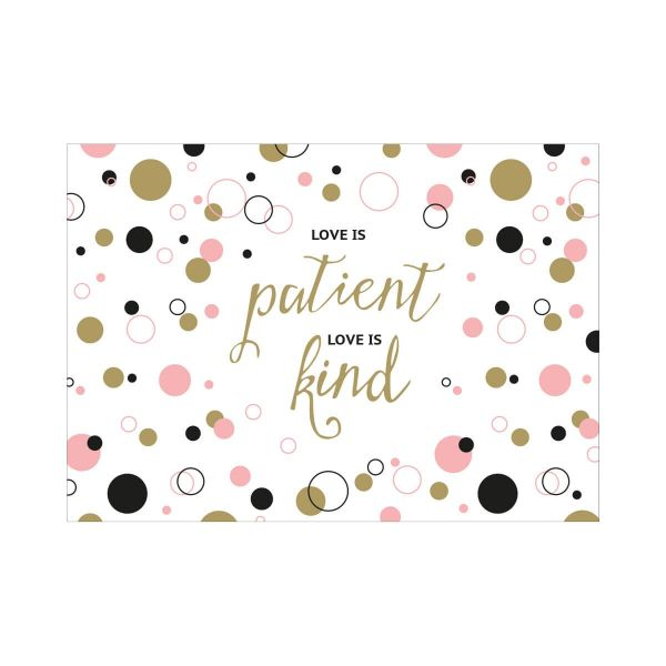 Postkarte Love is patient