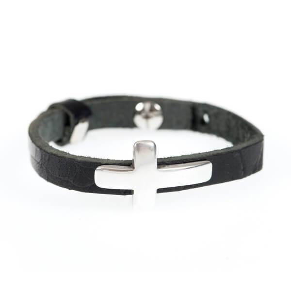 Armbaender-Praisent-Leder-Armband-Kreuz-6098
