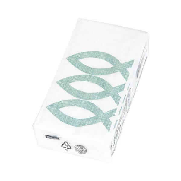 Papiertaschentücher Fisch grün