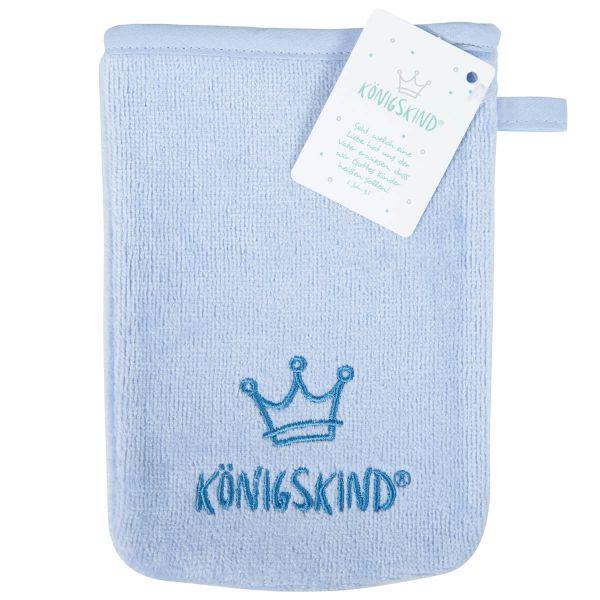 Waschhandschuh Königskind hellblau