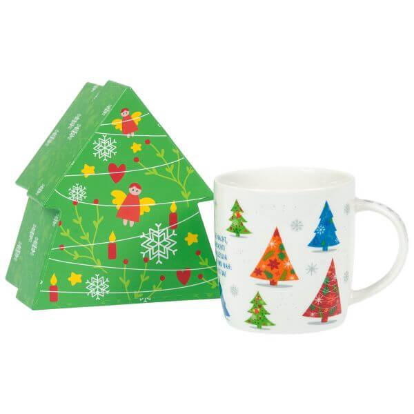 Weihnachtstasse Tannenbäume 3