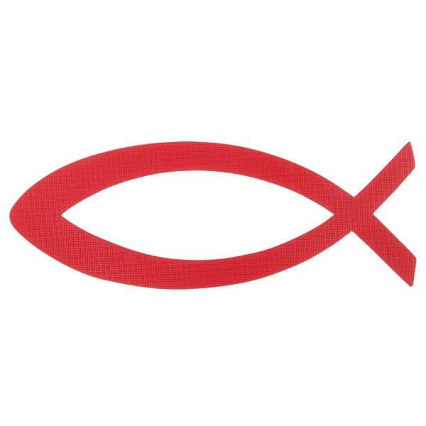 Aufkleber Fisch rot