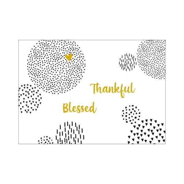 Postkarte Thankful Blessed