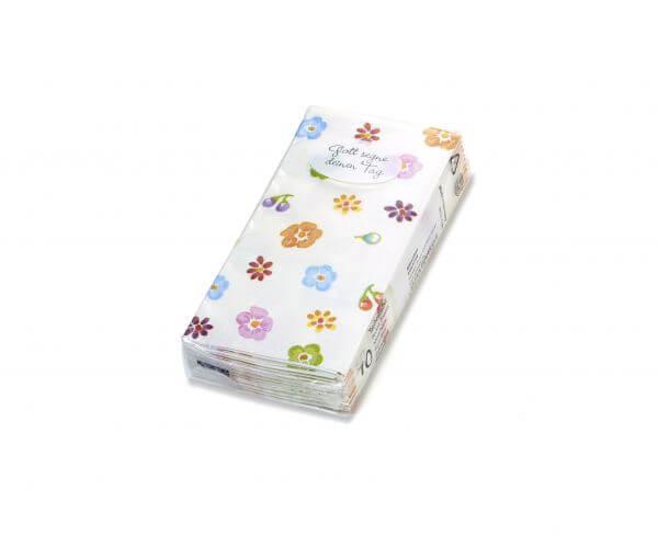 Papiertaschentücher Blümchen
