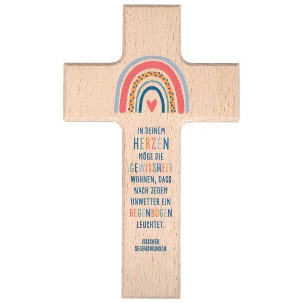 Holzkreuz Regenbogen