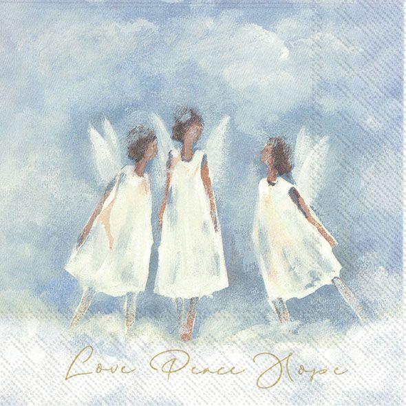 Servietten Love Peace Hope