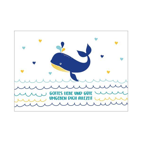 Postkarte Walfisch