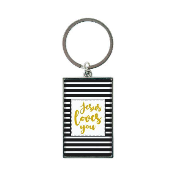 Schlüsselanhänger Jesus loves you