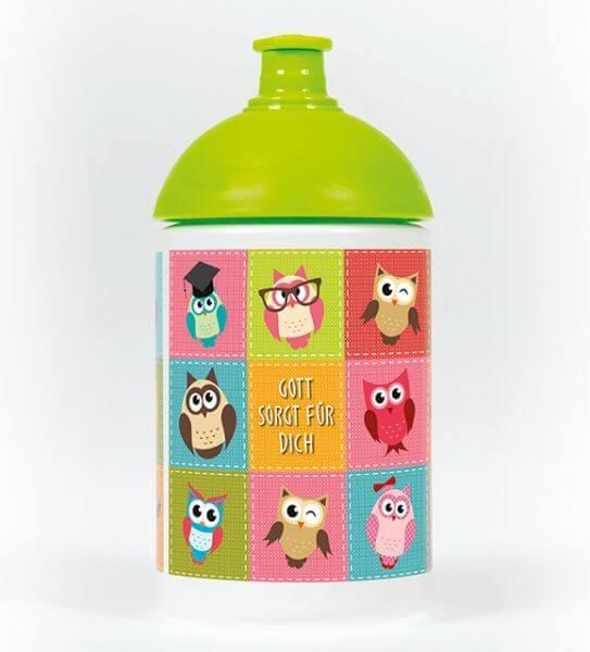 Trinkflasche Eulen