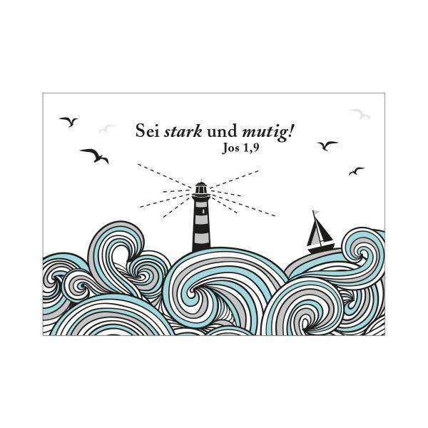 Postkarte Sei stark