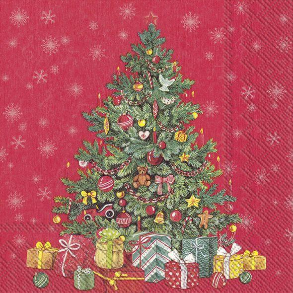 Servietten Weihnachtsbaum