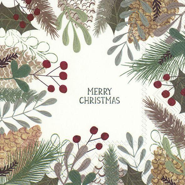 Servietten Natural Christmas