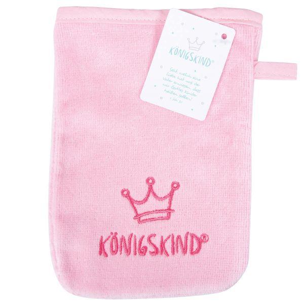 Waschhandschuh Königskind rosa