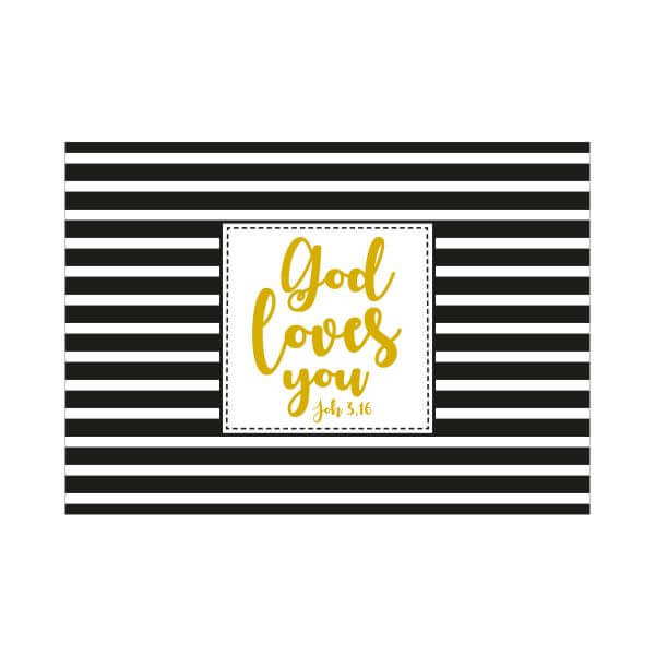 Postkarte God loves you