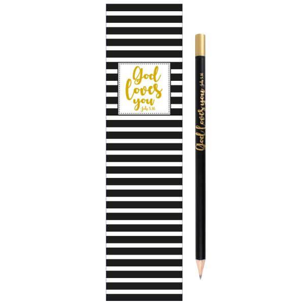 Bleistift Set God loves you