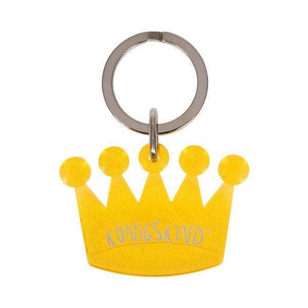 Schlüsselanhänger Krönchen gelb
