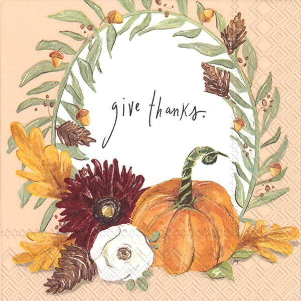 Servietten Give thanks