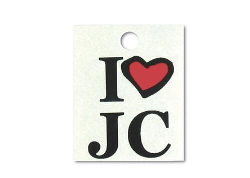 "Tattoo ""I love JC"""